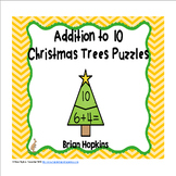 Christmas Tree Addition to 10 Puzzles