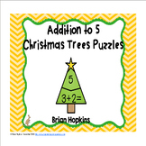 Christmas Tree Addition to 5 Puzzles FREEBIE
