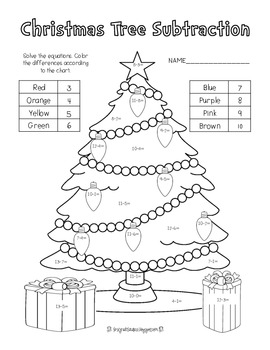 Christmas Tree Addition/Subtraction *FREEBIE*
