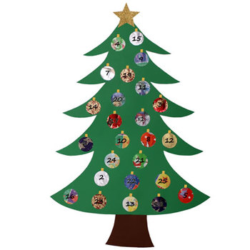 Christmas Tree Advent Calendar and writing project