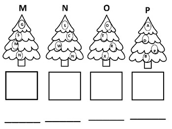 Christmas Tree Alphabet