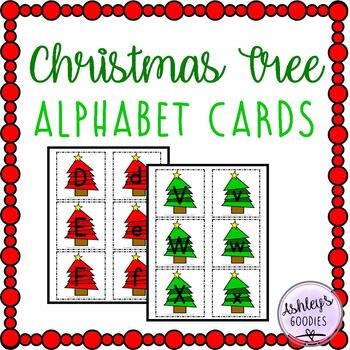 Christmas Tree Alphabet Cards