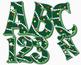 "Christmas Tree Alphabet Clip Art, 98pcs, 4.5"" High, Vector PDF and PNGs"
