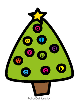 Christmas Tree Alphabet Match-Up