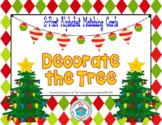 Christmas Tree Alphabet Matching 2-Part Cards