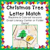 Christmas Tree Alphabet Matching Cards