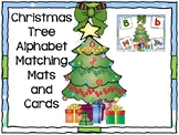 Christmas Tree Alphabet Matching Mats and Cards