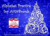 Christmas Tree Alphabet Practice for ActivBoard