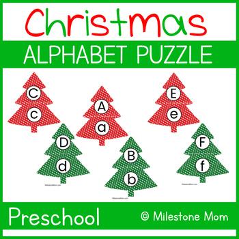Christmas Tree Alphabet Puzzle