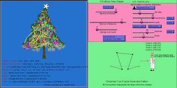 Christmas Tree Art with Math Focus