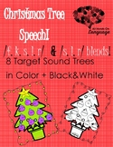 Christmas Tree Articulation! /f,k,s,l,r,/ + /s,l,r/ blends Speech Therapy