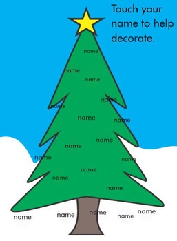 Christmas Tree Attendance - Smart Board