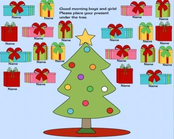 Christmas Tree Attendance Smartboard File