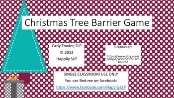 Christmas Tree Barrier Game