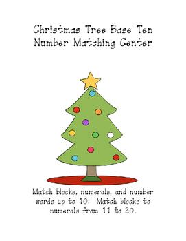 Christmas Tree Base Ten Number Matching Center