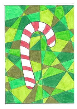 Christmas Tree, Bauble, Candy Cane Colouring Sheet - Christmas Booklet