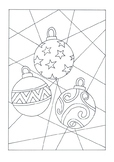 Christmas Tree, Bauble, Candy Cane Colouring Sheet - Chris