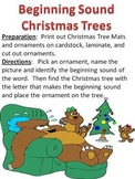 Christmas Tree Beginning Sound Game and Literacy Activity