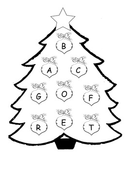Christmas Tree Beginning Sounds - Common Core