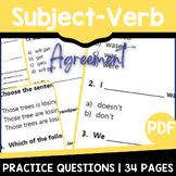 Subject Verb Agreement Worksheets | Grammar Practice | Ind