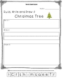 Christmas Tree Build, Write and Draw