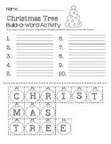 Christmas Tree Build-a-Word Activity