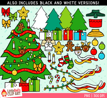 Christmas Tree Builder Clipart