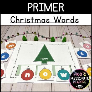 Christmas Tree Building Primer Words