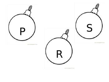 Christmas Tree Bulbs Alphabet Letters Decorations