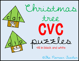 Christmas Tree CVC Puzzles