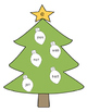 Christmas Tree CVC Word Match