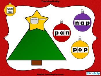 Christmas Tree CVC Words