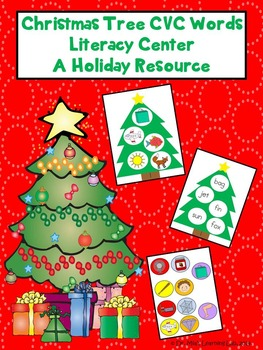 Christmas Tree CVC Words Literacy Center (a Christmas Holiday Resource)