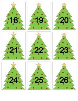 Christmas Tree Calendar Cards