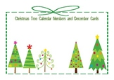 Christmas Tree Calendar Numbers and December Cards