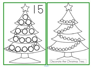 Dot Markers Christmas Trees