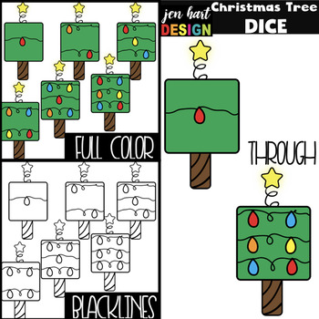 Christmas Tree Clip Art - Math Dice {jen hart Clip Art}