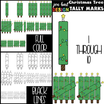 Christmas Tree Clip Art - Math Tally Marks {jen hart Clip Art}