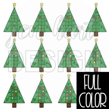Christmas Tree Clip Art - Math Ten Frames {jen hart Clip Art}