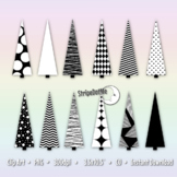 Christmas Tree Clip Art, Transparent Background, Winter Clipart