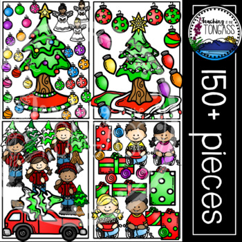 Christmas Tree Clipart MEGA Bundle (Christmas Clipart)