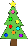 Christmas Tree Clipart {FREE}