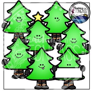 Christmas Tree Clipart Bundle