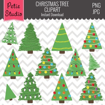 Christmas Tree Clipart // Christmas Ornaments // Xmas Tree - Winter104