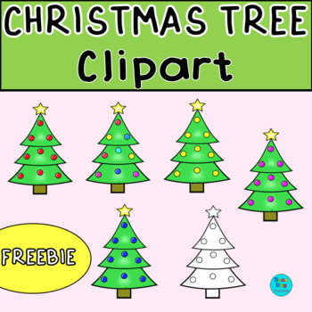Christmas Tree Clipart Freebie | Commercial Use