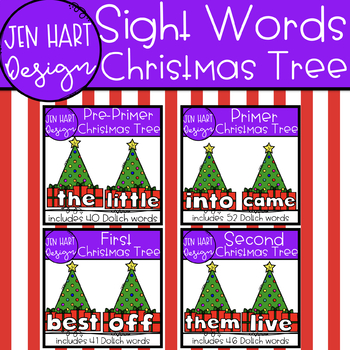 Christmas Tree Clipart - Sight Word Bundle {Jen Hart Clipart}