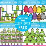 Christmas Tree Clipart {Super Saver Bundle}