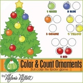 Christmas Tree Color Counting Ornaments File Folder Game