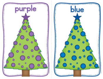 Christmas Color Sorting: Tree Color Match Activity for Preschool and Pre-k