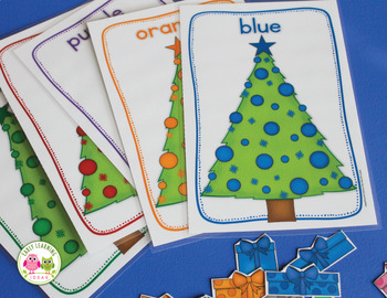 Christmas Activities | Christmas Tree Color Sorting | Color Match Activity